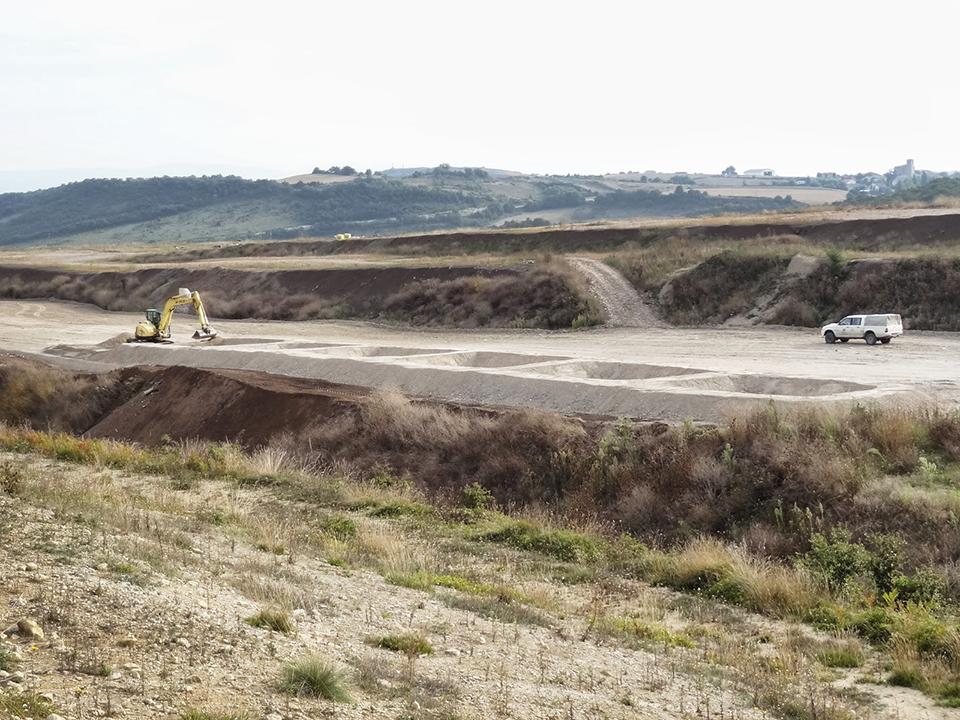 Inicio de la excavacion parcelas