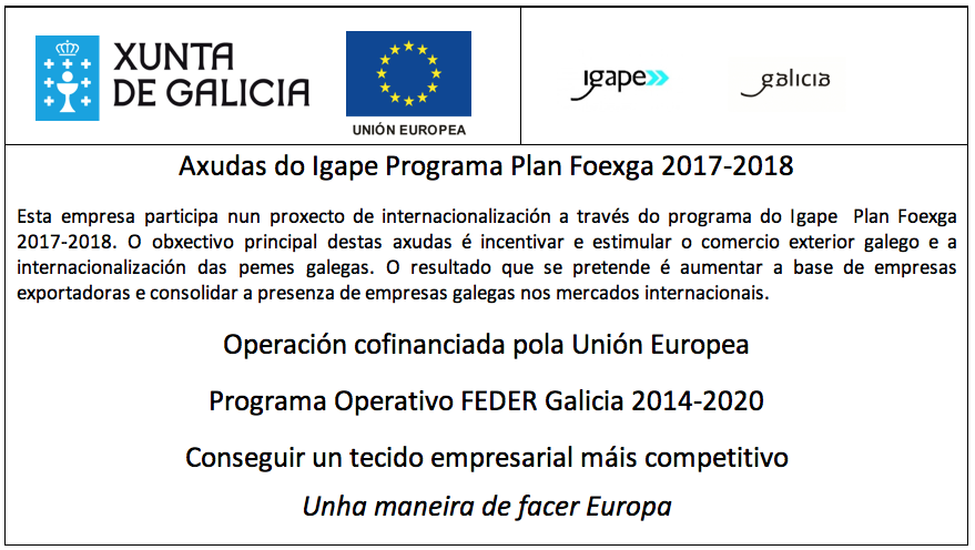 Axudas do Igape Programa Plan Foexga 2017-2018